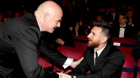 Infantino dan Lionel Messi - INDOSPORT