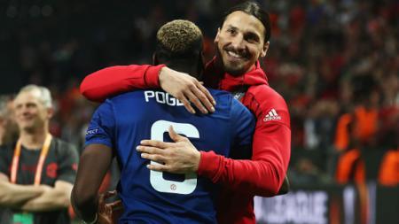 Paul Pogba dan Zlatan Ibrahimovic. - INDOSPORT