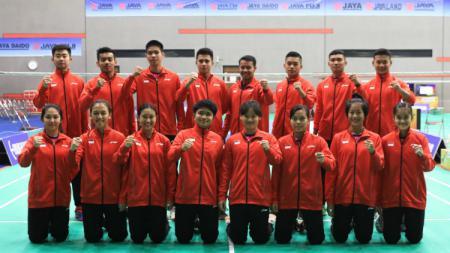 Tim Indonesia di Asia Junior Championships 2018. - INDOSPORT