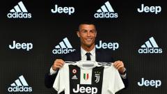 Indosport - Cristiano Ronaldo saat diperkenalkan Juventus kepada publik.