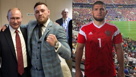 McGregor & Nurmagomedov kedapatan menonton final Piala Dunia 2018 di Rusia - INDOSPORT