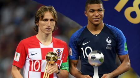 Luka Modric dengan Ballon d'Ornya dan Kylian Mbappe sebagai Pemain Muda Terbaik - INDOSPORT