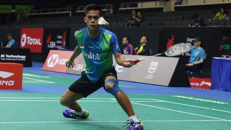 Firman Aldul Kholik dalam aksinya di babak kualifikasi pertama Singapura Open 2018. - INDOSPORT