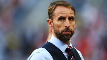 Gareth Southgate merasa kesal lantaran medali juara ketiga UEFA Nations League yang diperoleh Timnas Inggris tidak dibagikan di hadapan suporter. - INDOSPORT