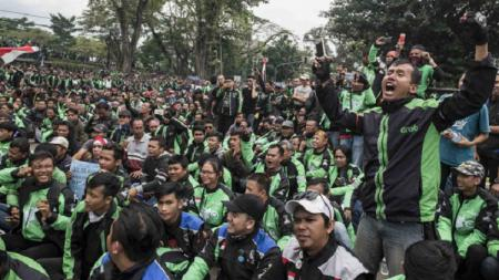Jutaan pengemudi Ojek Online dikabarkan akan melakukan demonstrasi di hari pembukaan Asian Games 20 - INDOSPORT
