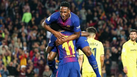 Yerry Mina berseragam Barcelona. - INDOSPORT