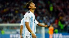 Indosport - Paulo Dybala saat bela Timnas Argentina.