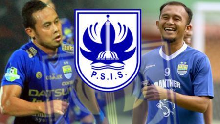 Atep, Logo PSIS Semarang dan Airlangga Sutjipto. - INDOSPORT