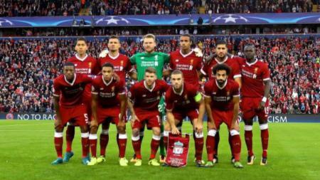 Foto bersama Liverpool sebelum mengalahkan Hoffenheim - INDOSPORT