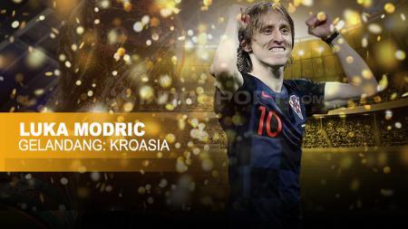 Gelandang Timnas Kroasia, Luka Modric. - INDOSPORT