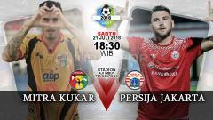 Indosport - Mitra Kukar vs Persija Jakarta.