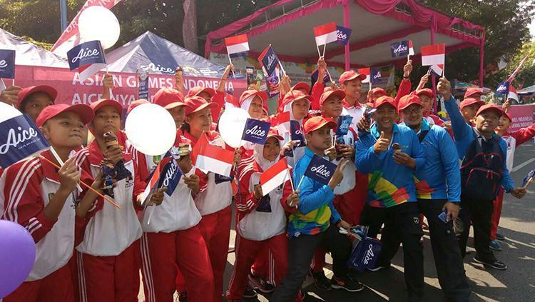 Label es krim Aice ikut serta mendukung acara Asian Games 2018. Copyright: Aice