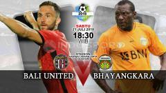 Indosport - Bali United vs Bhayangkara FC.