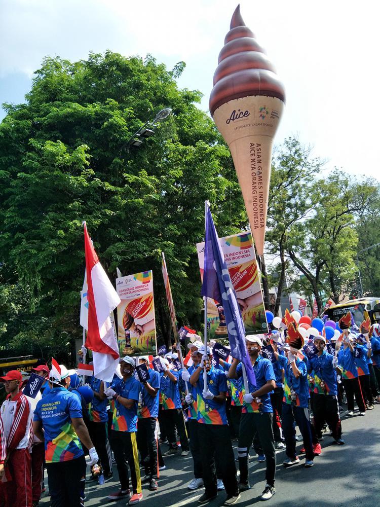 Indonesia sebagai tuan rumah Asian Games 2018 terus mempersiapkan diri untuk menyambut perhelatan olahraga terbesar di Asia Copyright: Aice