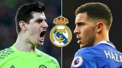 Indosport - Thibaut Courtois dan Eden Hazard