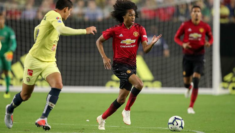 Pemain muda Manchester United, Tahith Chong. Copyright: Getty Images