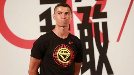 Cristiano Ronaldo datang ke China. - INDOSPORT