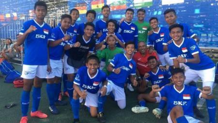 Tim LKG SKF Indonesia yang bermain di Gothia Cup U-15 2018 Swedia. - INDOSPORT