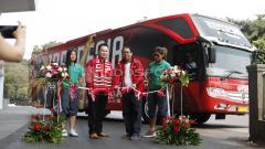 Indosport - Joko Driyono saat meresmikan Bus Timnas Garuda Indonesia.