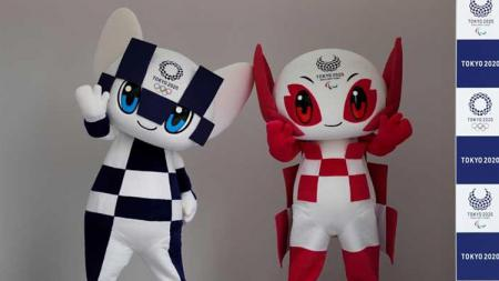 Miraitowa dan Someity, maskot Olimpiade dan Paralimpiade Tokyo 2020 di Tokyo, Jepang(22/07/18). - INDOSPORT