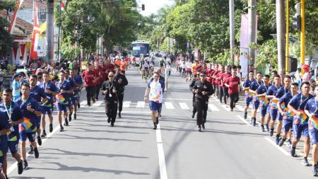 Kirap obor Asian Games 2018 di Banyuwangi. - INDOSPORT