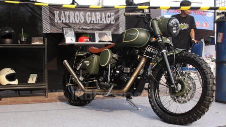 Bengkel custom motor, Katros Garage langganan tempat modifikasi dari Gibran Rakabuming Raka. - INDOSPORT