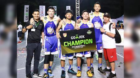 Satria Muda Pertamina juara 3x3 basket Indonesia. - INDOSPORT