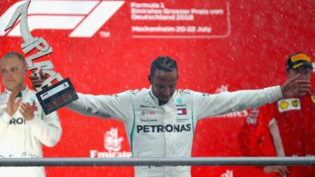 Lewis Hamilton sudah mencatatkan empat kali kemenangan di F1 GP Jerman. - INDOSPORT