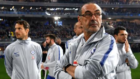Pelatih Chelsea, Maurizio Sarri. - INDOSPORT