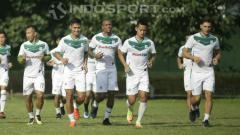 Indosport - Para pemain PSMS Medan di sesi latihan.