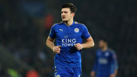 Harry Maguire, pemain Leicester City. - INDOSPORT