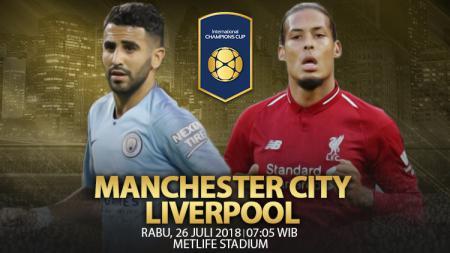Manchester City vs Liverpool. - INDOSPORT