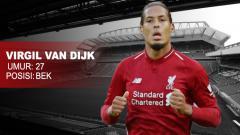 Indosport - Bek Tengah Liverpool Virgil van Dijk.