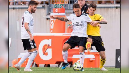 Pertandingan antara Borussia Dortmund vs Benfica. - INDOSPORT