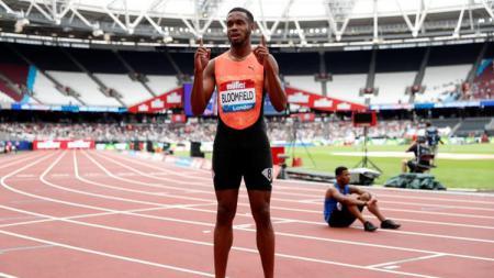 Pelari tercepat kedua setelah Usain Bolt asal Jamaika, Akeem Bloomfied. - INDOSPORT