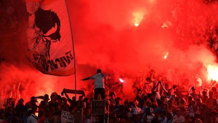 Fans Olympique Marseille. - INDOSPORT