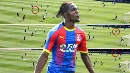 Pemain Crystal Palace, Wilfred Zaha. - INDOSPORT