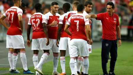 Pelatih Arsenal, Unai Emery angkat bicara terkait aksi Granit Xhaka yang dicemooh oleh fansnya. - INDOSPORT