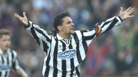 Roberto Baggio saat berseragam Juventus. - INDOSPORT