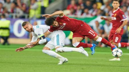 Mohammed Salah dan Sergio Ramos - INDOSPORT