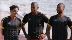 Indosport - Trio Brasil di Persipura, Addison Alves, Marcio Nascimento, dan Hilton Moreira.