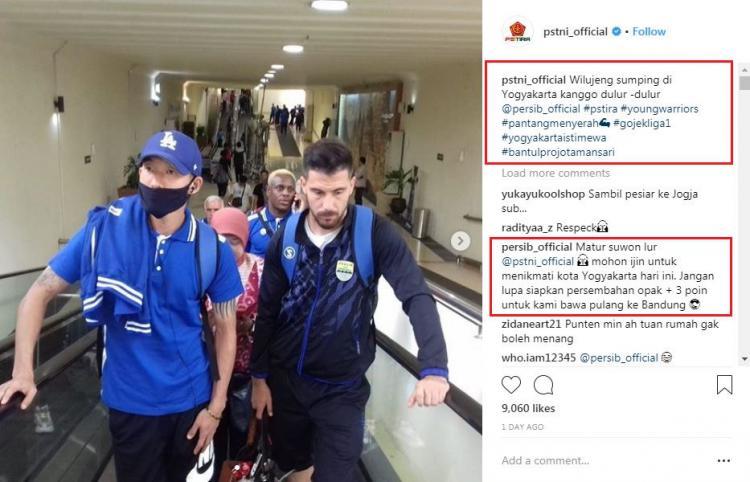 PS TIRA mengucapkan selamat datang kepada skuat Persib Bandung. Copyright: instagram.com