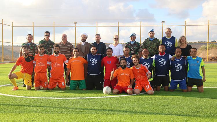 Dansatgas Indobatt Resmikan Sarana Olahraga Soccer di Lebanon Selatan. Copyright: Puspen TNI