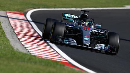Lewis Hamilton di GP Hungaria. - INDOSPORT