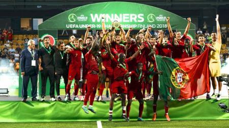 Timnas Portugal U19 juara Euro U19 2018. - INDOSPORT