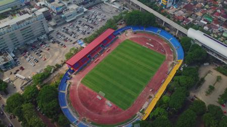 Stadion Bumi Sriwijaya tampak atas. - INDOSPORT