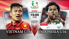 Indosport - Vietnam U16 vs Indonesia U16.