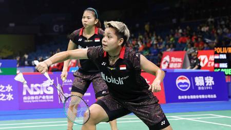 Greysia Polii/Apriani Rahayu saat tampil di ajang World Championships 2018. - INDOSPORT