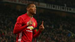 Indosport - Anthony Martial penyerang Manchester United