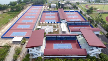 Lapangan Tenis Bukit Asam - INDOSPORT